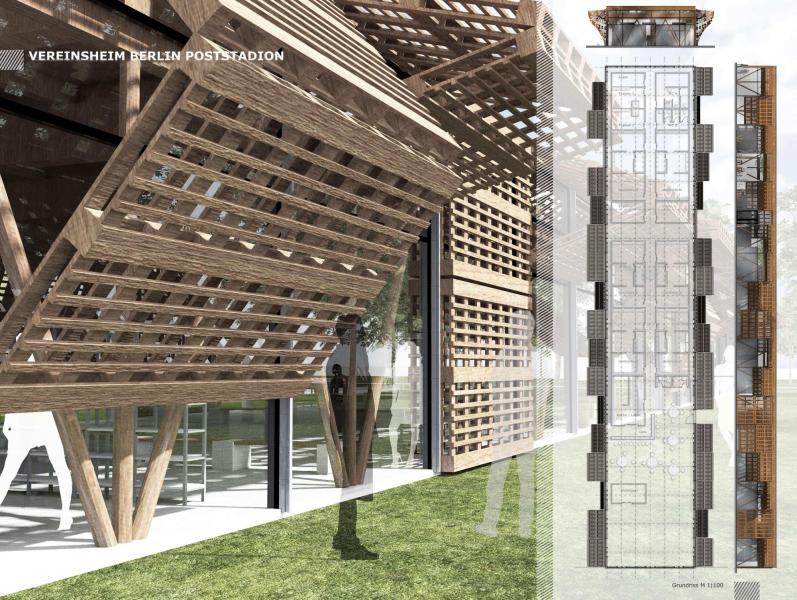 Entwurf Vereinsheim 1